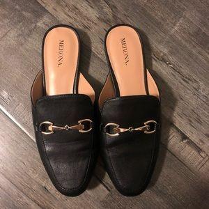 Merona: gold hardware loafer slide
